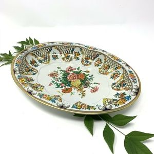"Daher Decorated Ware Multi Floral Enamel ""Tin"""